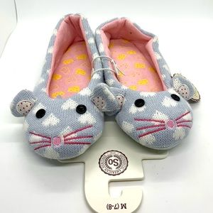 NWT Mouse Slippers - size 7/8